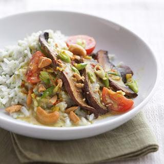 Portobello Curry with Green Rice