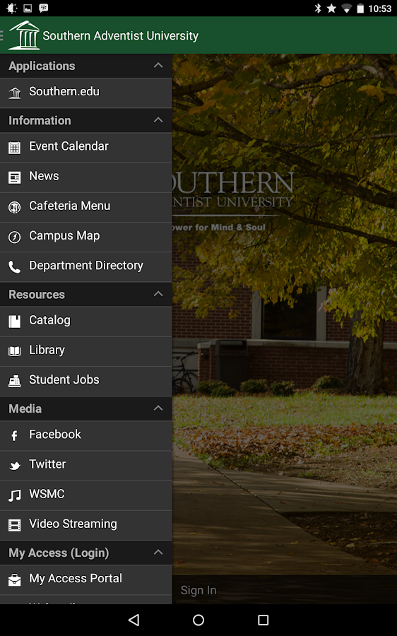 Southern Adventist University- screenshot