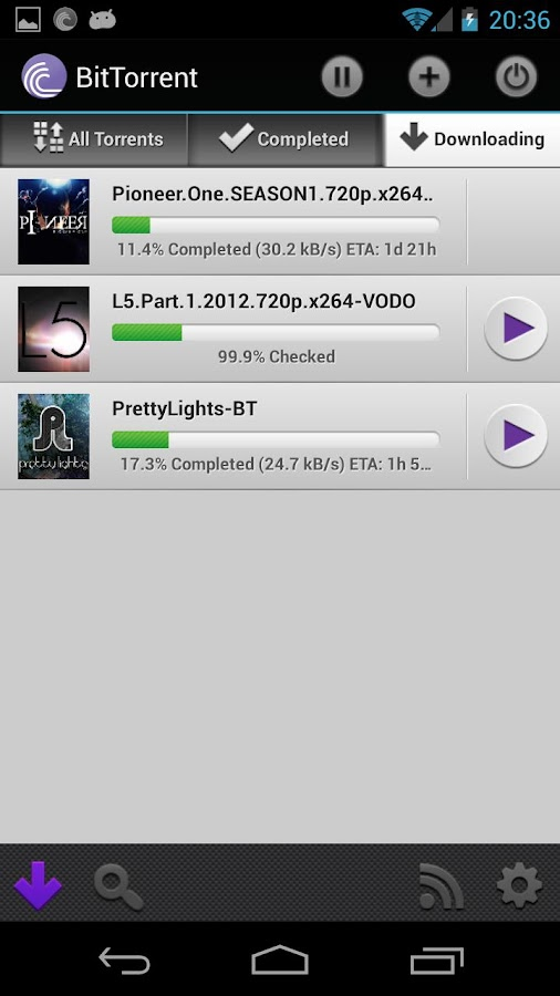Android BitTorrent Resimler