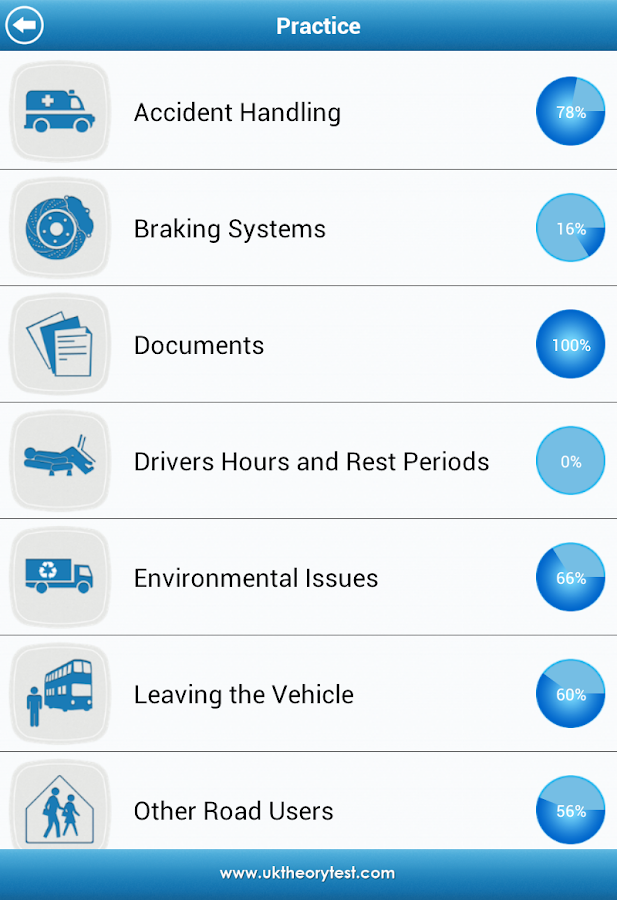 UK LGV Theory Test - screenshot