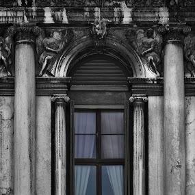 Venetian window by Maya Cvetojevic - Buildings & Architecture Architectural Detail ( venezia, details, window, venice, venetian window )