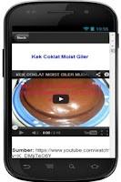 Screenshot of Resepi Kek Coklat Kukus Sedap