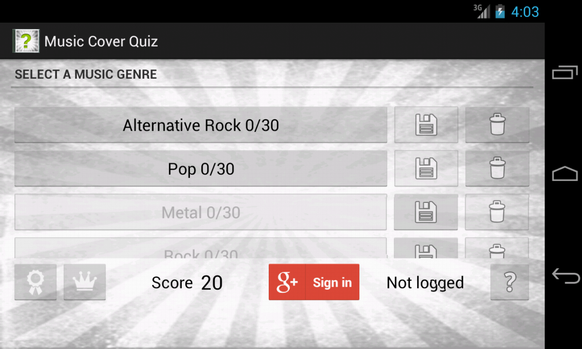 Music Cover Quiz - screenshot