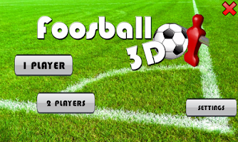 Screenshot of Foosball 3D