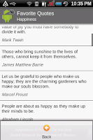 Screenshot of Favorite Quotes