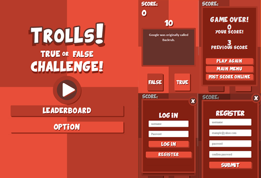 Trolls-True or False Challenge