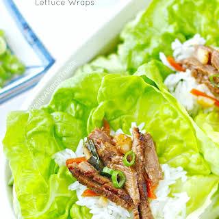 Korean BBQ (Bulgogi) Lettuce Wraps.