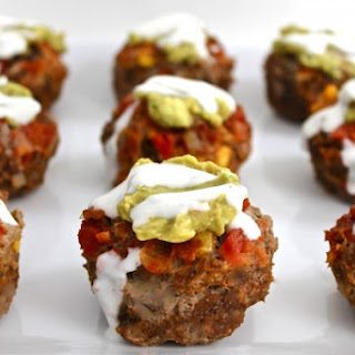 Skinny Mexican-Style Meatloaf Cupcakes