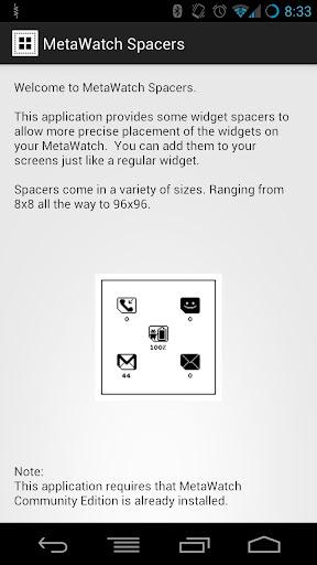 MetaWatch Spacers