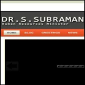 Dr S. Subramaniam Blog