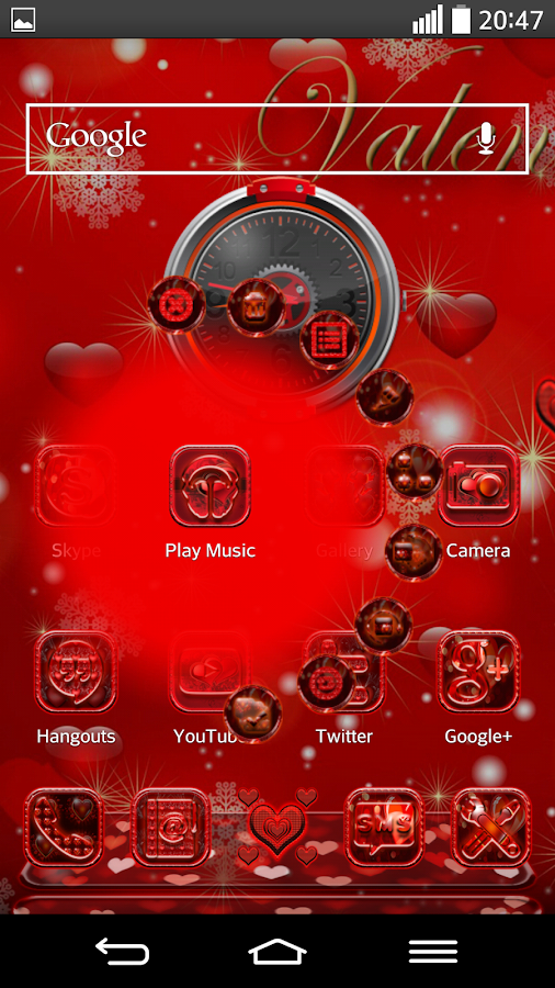 Next Launcher 3D Theme Vday- screenshot