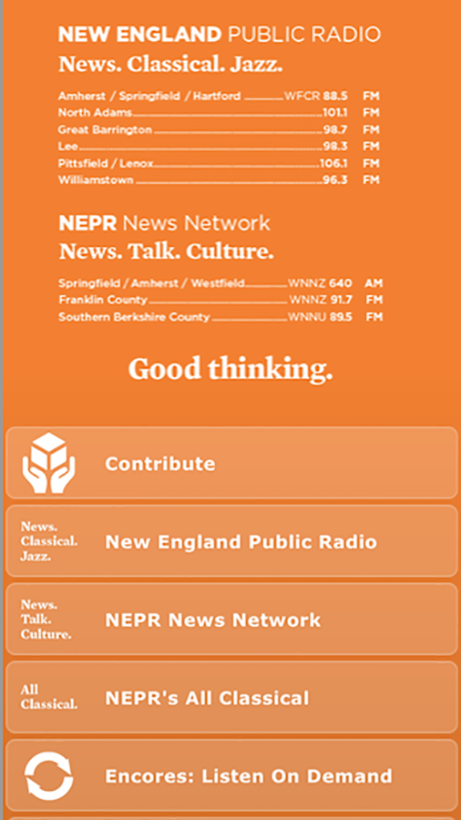 New England Public Radio - screenshot