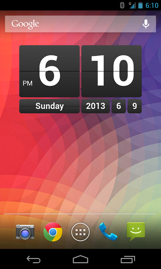 Retro Clock Widget- screenshot