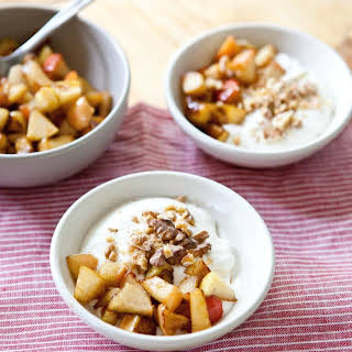 Whipped Yogurt with Apples and Walnuts.