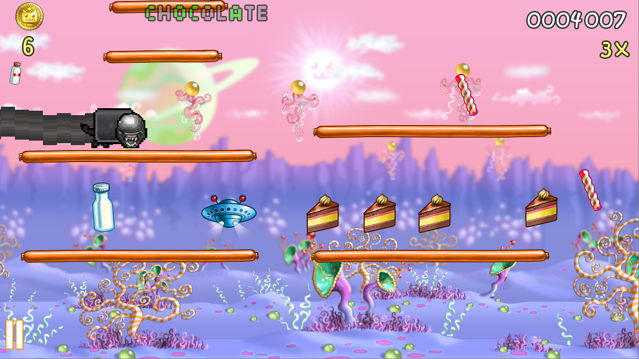 Screenshots of Nyan Cat: Lost In Space for iPhone