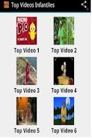 Screenshot of Top Videos Infantiles