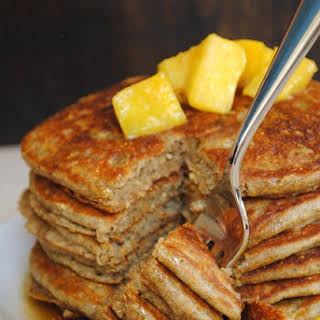 Whole Grain Pancakes with Pineapple-Ginger Compote.