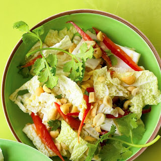 Napa Cabbage Salad with Peanuts and Ginger.