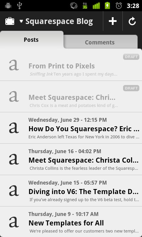 Squarespace Manager - screenshot