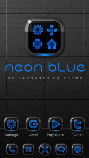Neon Blue GO Launcher Theme