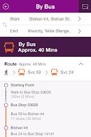 Screenshot of SBS Transit iris