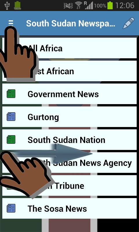 South Sudan Newspapers- screenshot