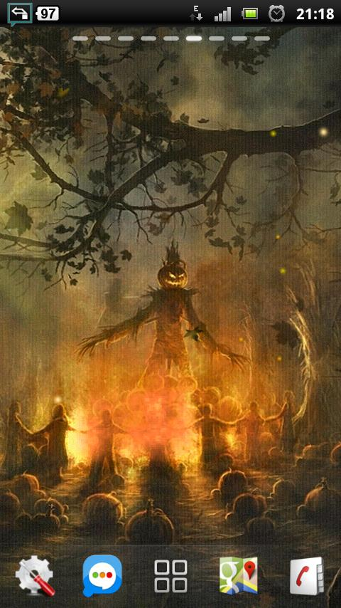halloween camp fire LWP- screenshot