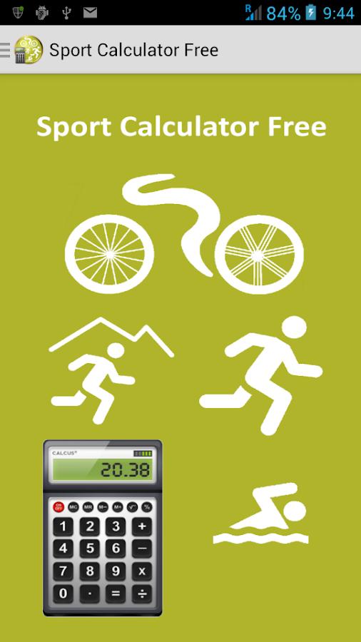 Sport Calculator Free - screenshot