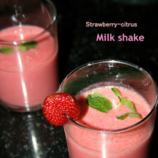 Quick Strawberry-Citrus Milk shake