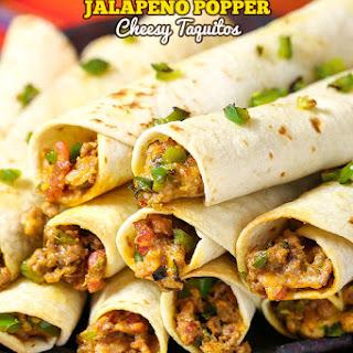 Jalapeno Popper Taquitos