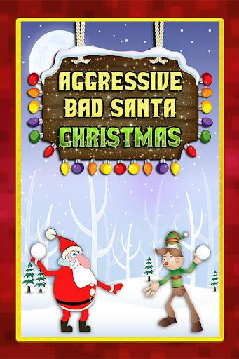 Aggressive Santa Snowball Duel