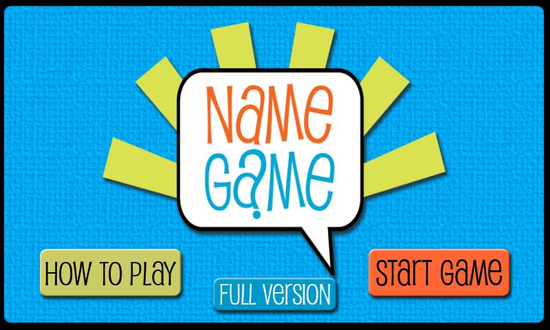 Name Game - screenshot