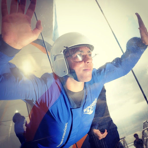 """skydiving - Feel the thrill of falling through the sky while sailing at 20 knots at sea. The iFly Ripcord experience aboard Quantum of the Seas offers guests the chance at experiencing skydiving without the whole """"jumping out of a perfectly good place"""" part."""