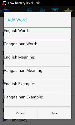 Pangasinan-English Dictionary - screenshot