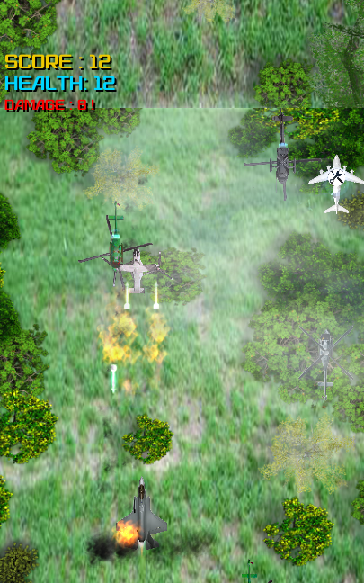 Air Jet Fighter vs Helicopters- screenshot