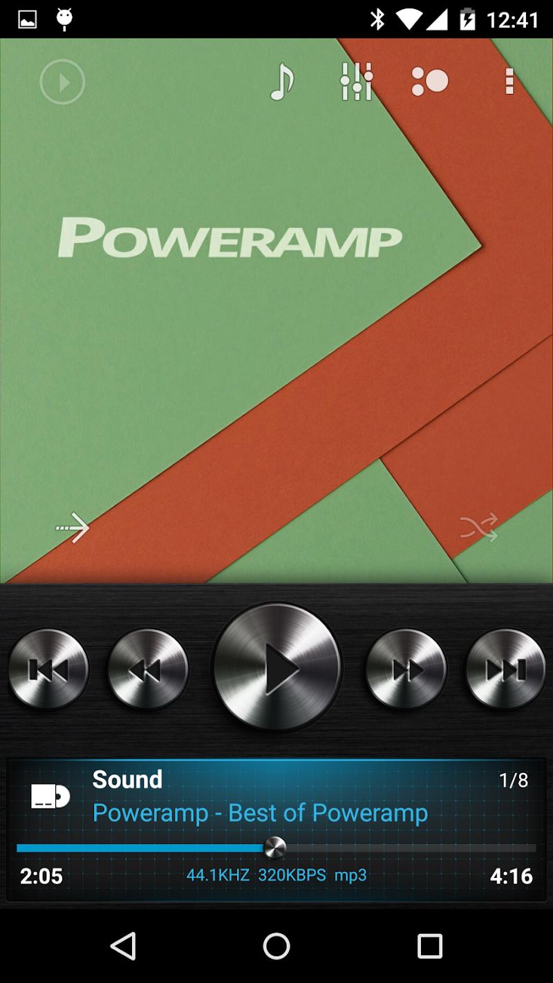 Skin for Poweramp v2 Dark Metal APK Cracked Free Download