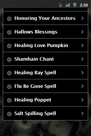 Wiccan Halloween Rituals - screenshot