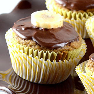 Chocolate-Glazed Banana Cupcakes