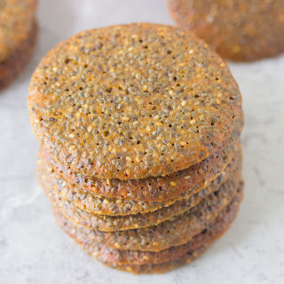 Chia Seed Wafer Cookies.