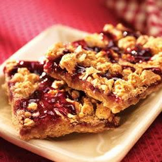 Chewy Red Raspberry Squares