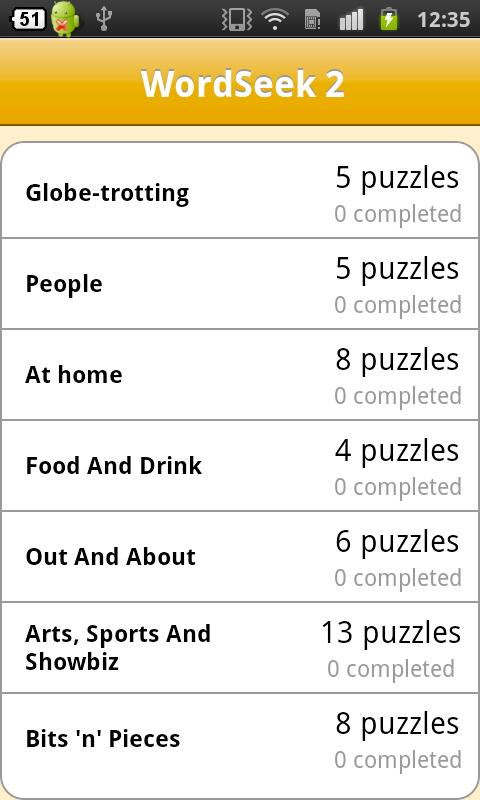 WordSeek Pack 2 - screenshot
