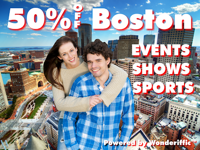 50% Off Boston Events - screenshot thumbnail