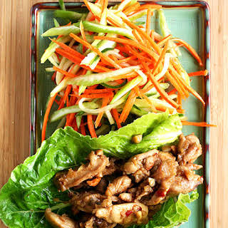 Asian Lettuce Wraps for Almost Meatless Potluck.