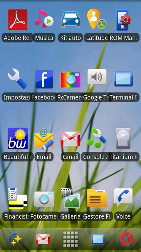 Symbian Theme ADW Donate - screenshot