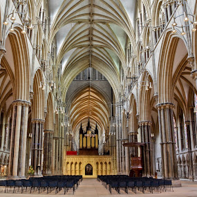Here is a photograph I took from Lincoln Cathedral.  Located in Lincoln, Lincolnshire, England, UK. by Michael D Beckwith - Buildings & Architecture Places of Worship