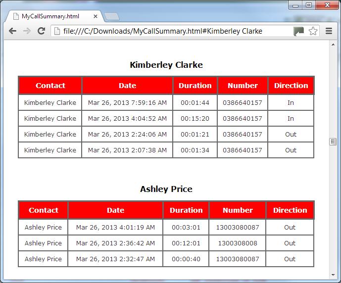 sales call log app
