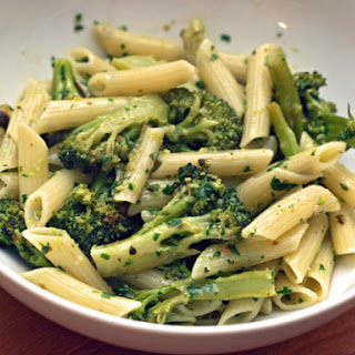 Diane Rossen Worthington's Penne with Roasted Broccoli and Pistachio Gremolata.
