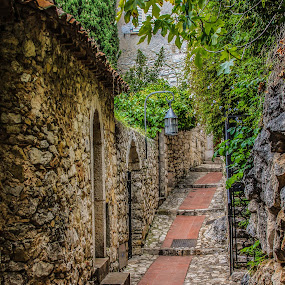 Historical Town of Eze on the French Riviera by John Herlo - Buildings & Architecture Public & Historical (  )