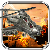 Gunship Helicopter city War 3D