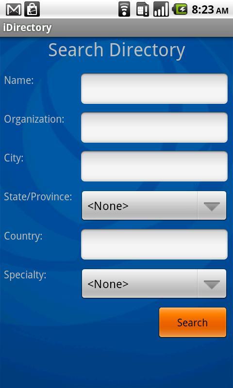 ASCO iDirectory - screenshot